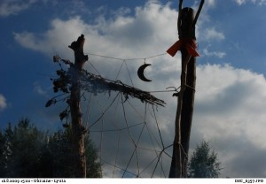 dreamcatcher at a rainbow gathering