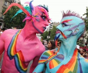 gay rainbow parade - not a gathering!